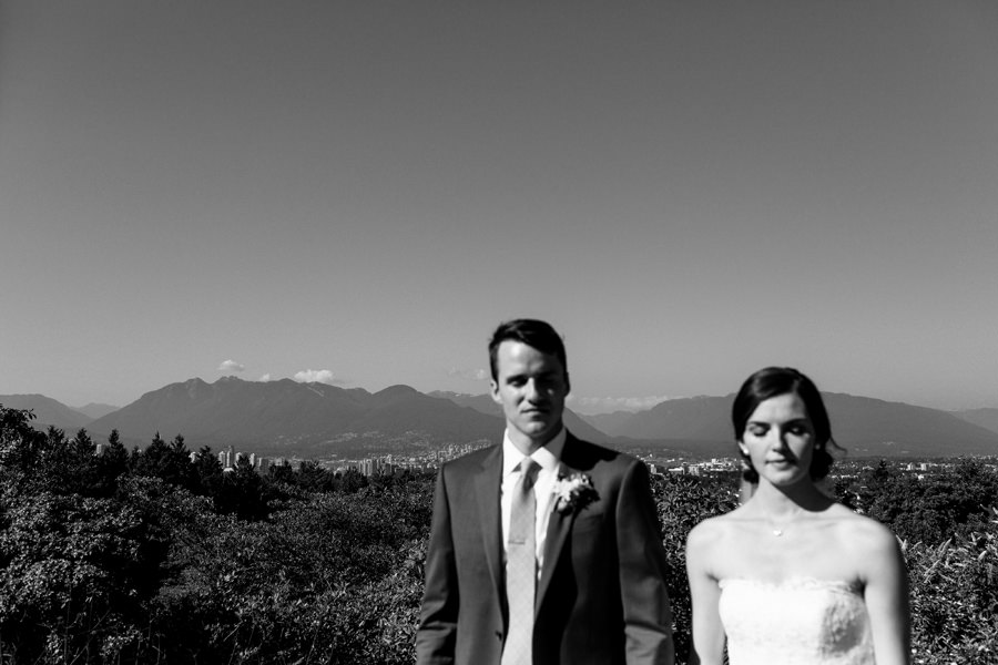 Queen Elizabeth Park Wedding view of Vancouver