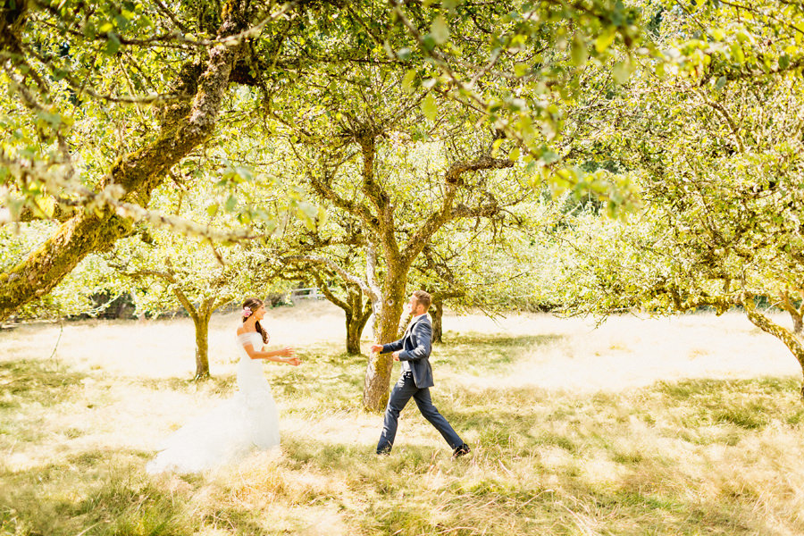 Apple Orchard - Victoria Farm Wedding Photographer