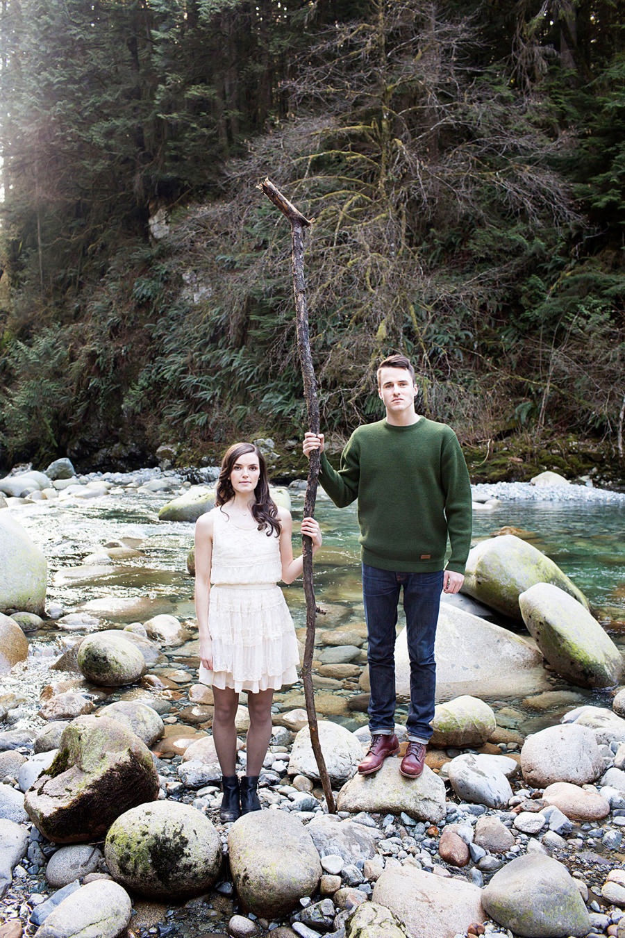 Outdoor Lynn Valley Engagement Session
