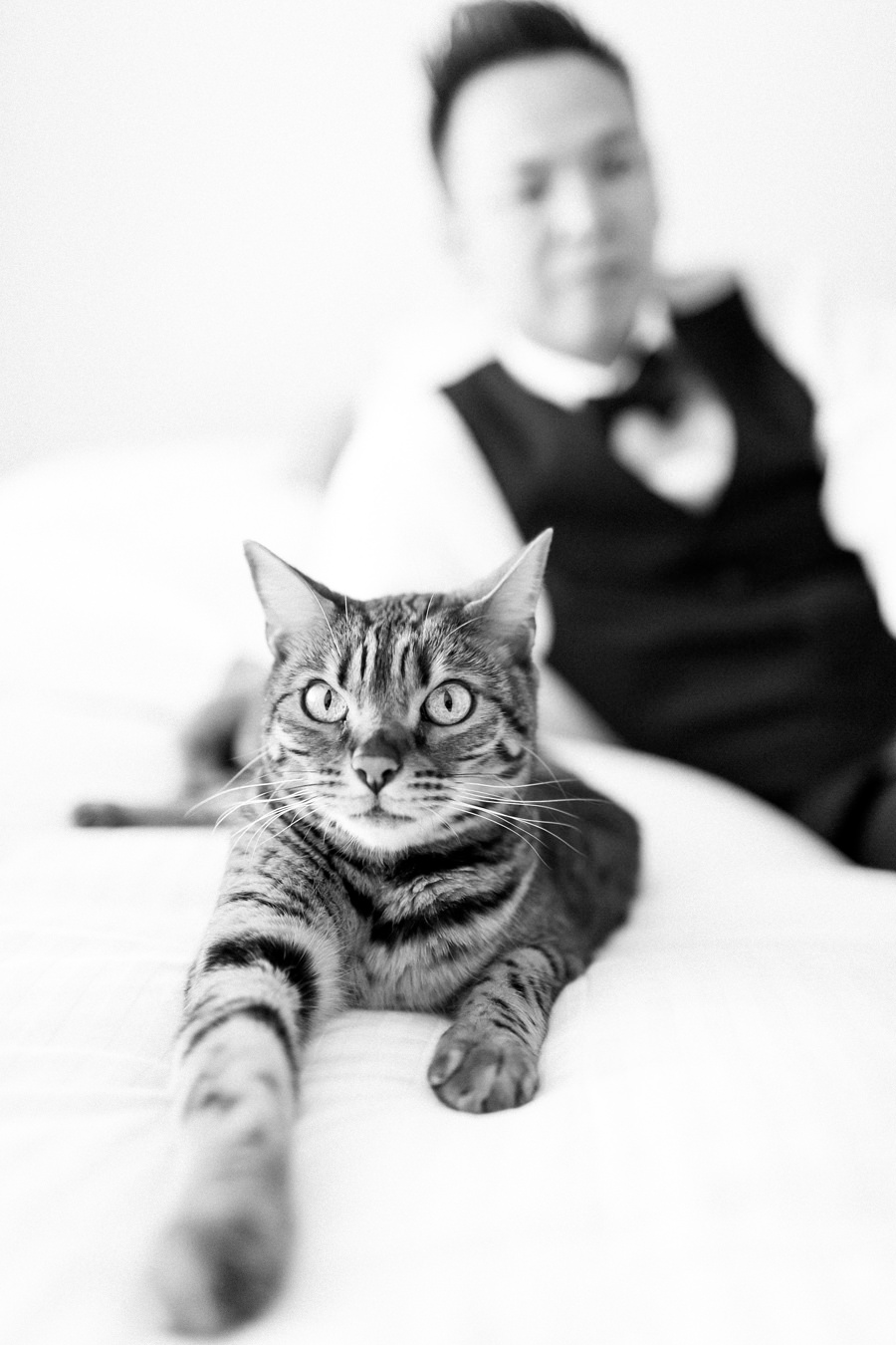 Groom and his cat