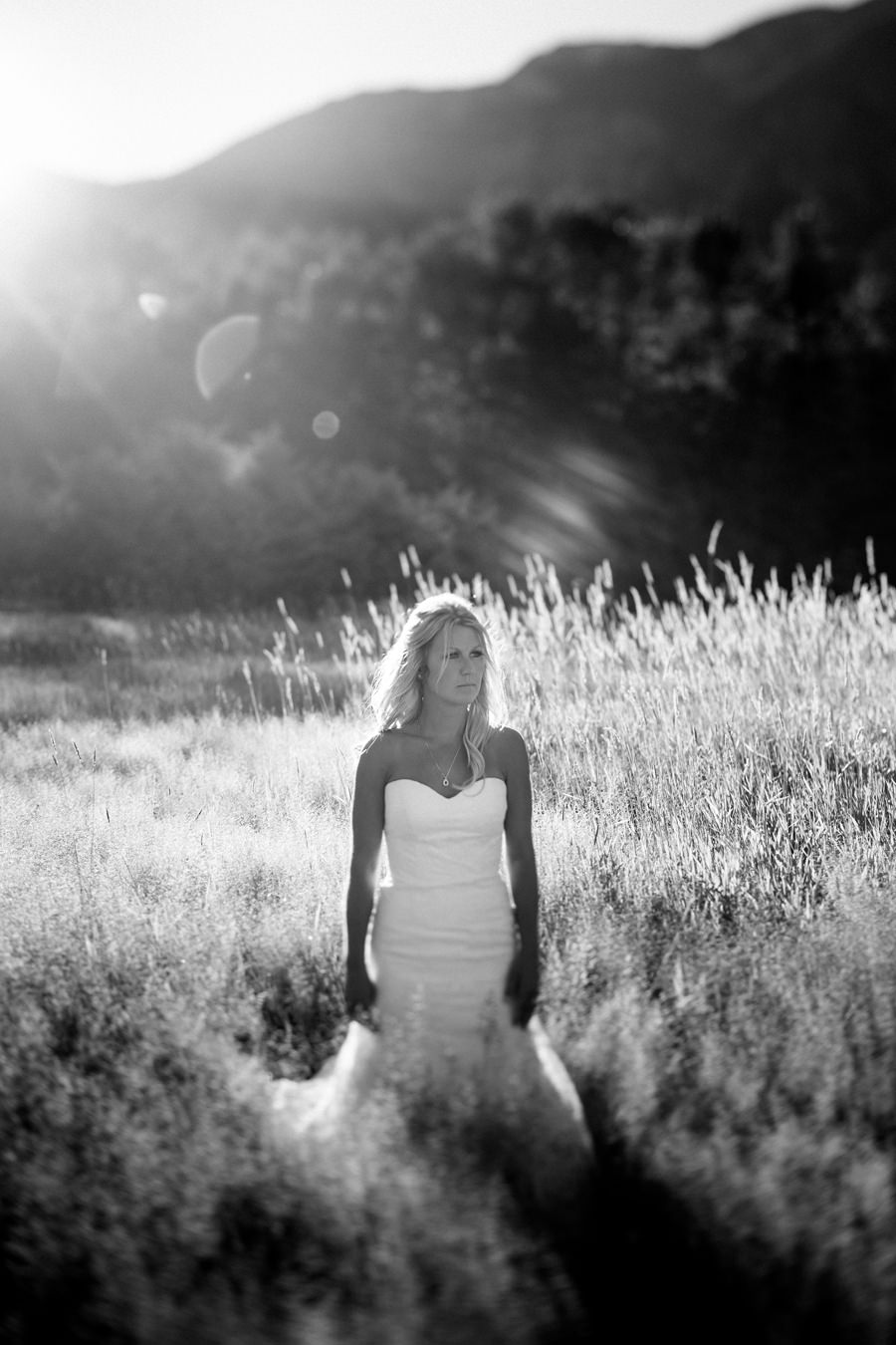 Tilt Shift Bridal Portrait