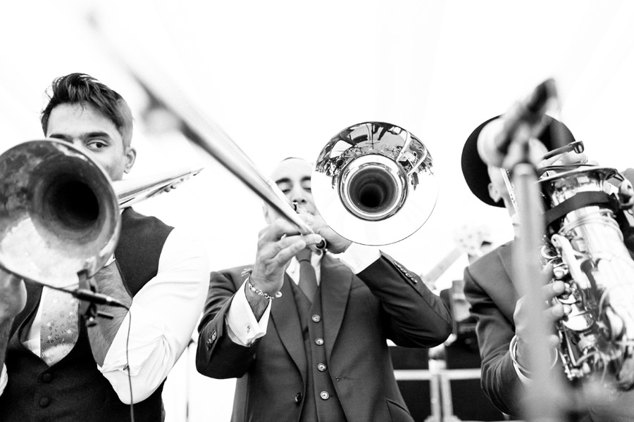 Groom plays Trumpet at his Wedding