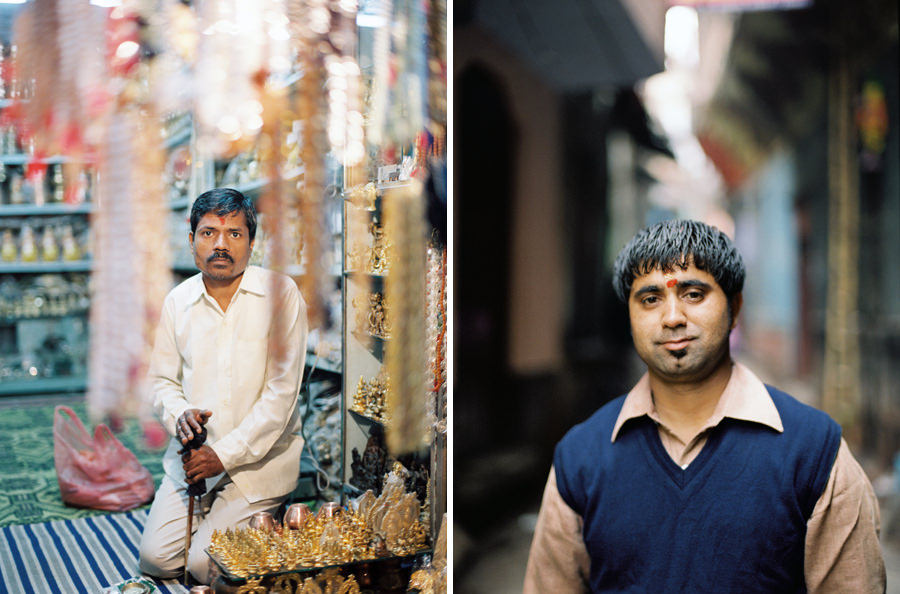 Rohit and Shopkeeper Varanasi