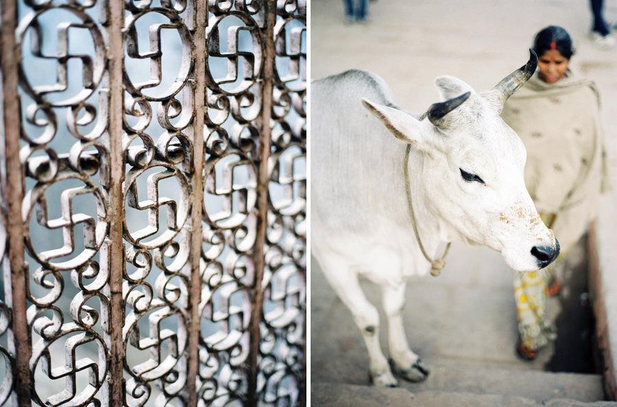 Holy symbols, Varanasi, India