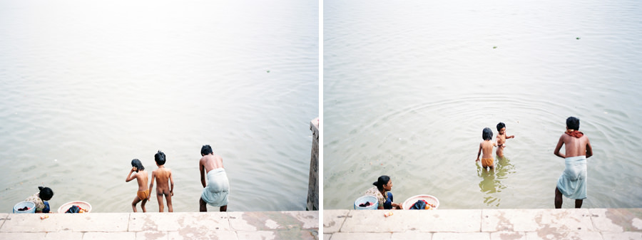 Bathing on the Ganges, Varanasi