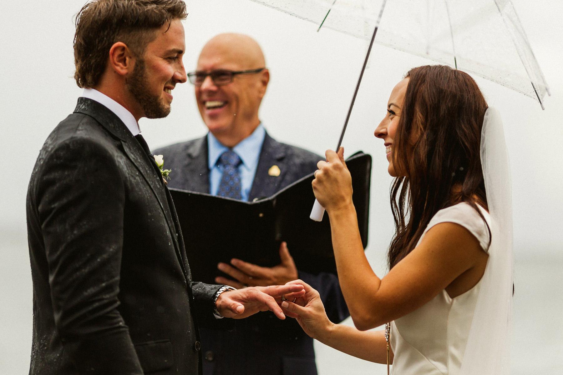 Tsawwassen Wedding in the rain