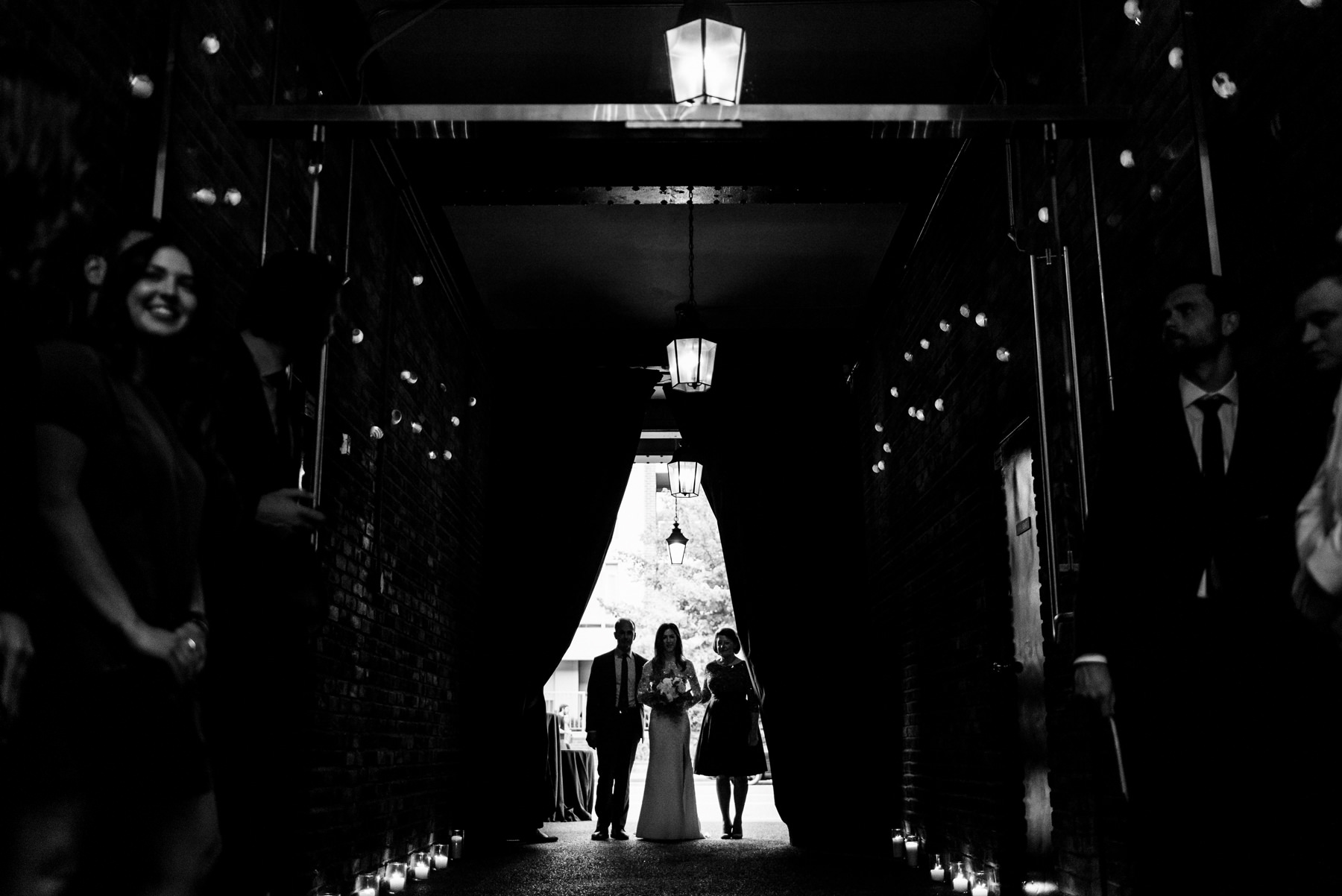 Walking down the Aisle in Brix & Mortar in Yaletown