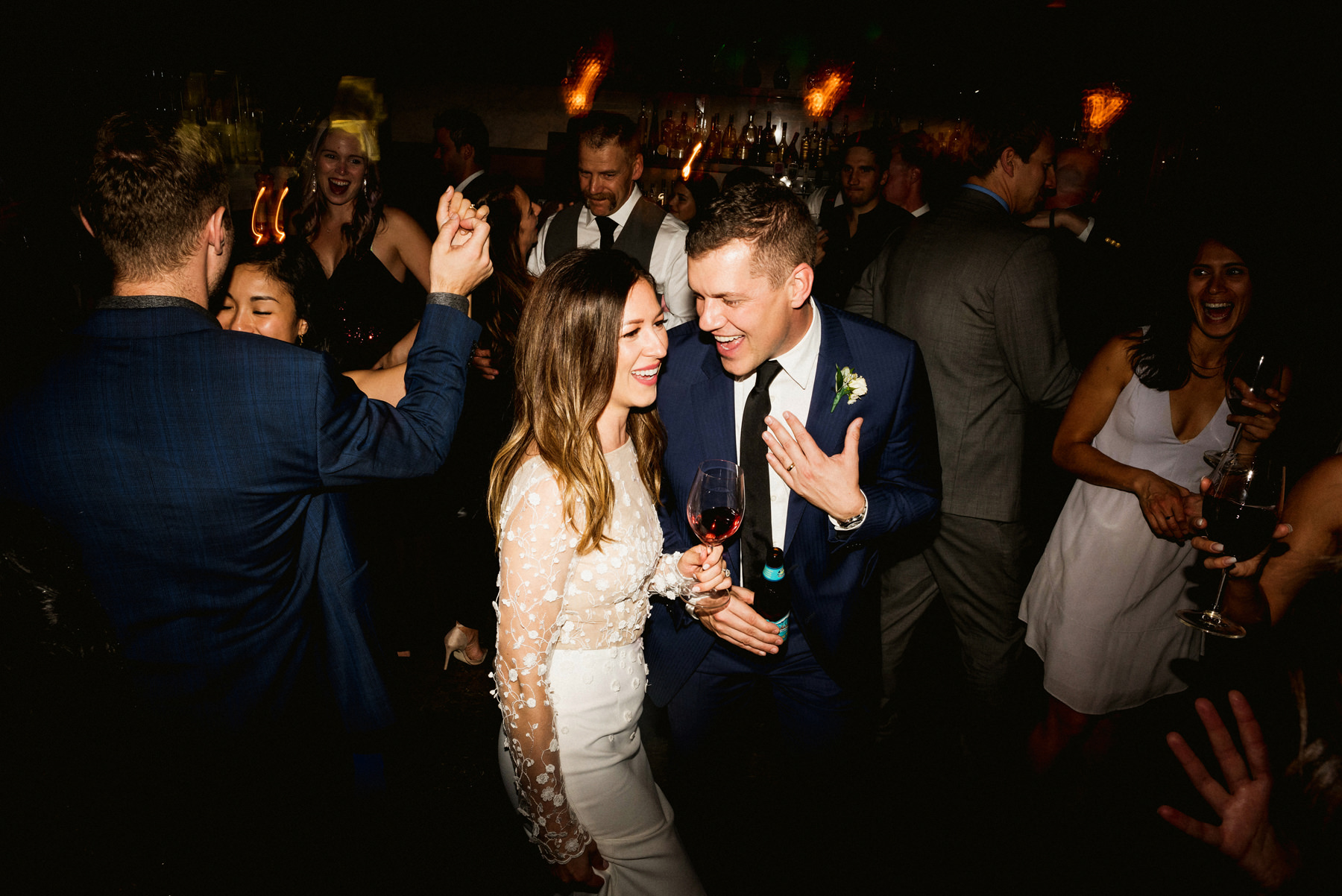 Bride and Groom Dancing at Wedding at Brix & Mortar