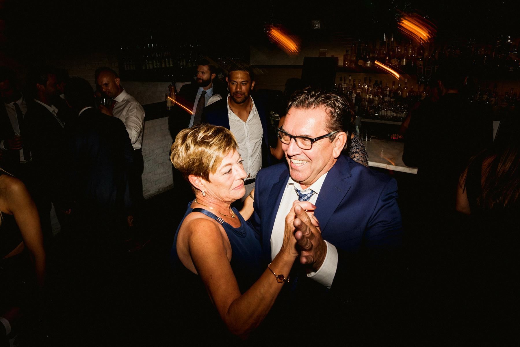 Couple Dancing at Brix & Mortar Wedding