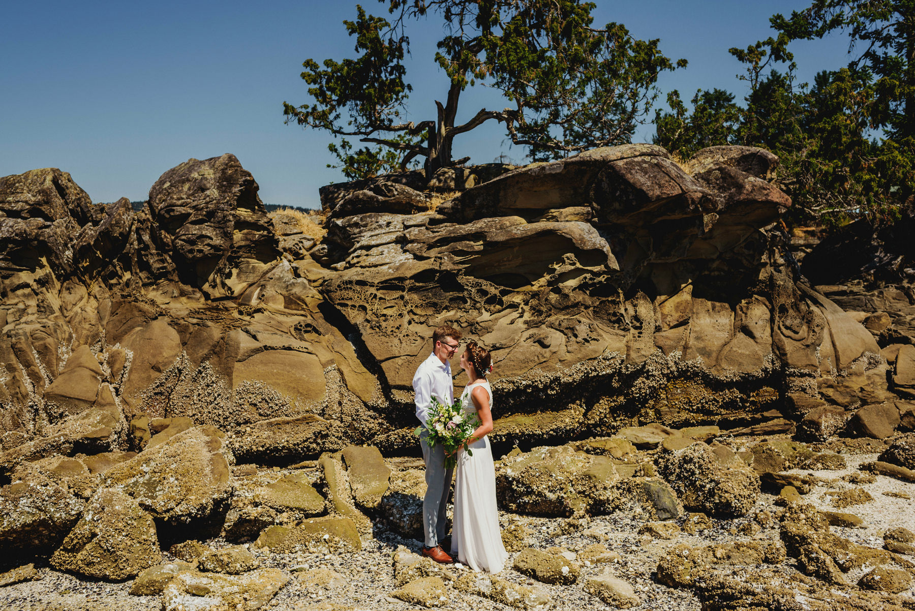 Bride and Groom at Thetis Island